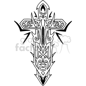 cross clip art tattoo illustrations 014 clipart. Commercial use image # 385899
