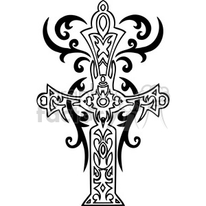 cross clip art tattoo illustrations 003 clipart. Royalty-free image # 385909