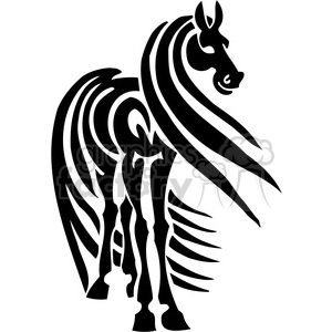 horse with long hair clipart. Royalty-free image # 385941