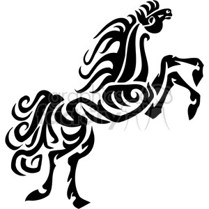 tribal horse art clipart. Royalty-free image # 385951