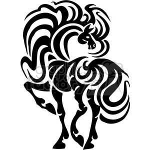 fancy horse design clipart. Royalty-free image # 385961