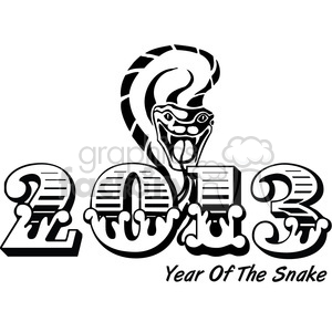 2013 Year of the snake clipart. Royalty-free image # 385981