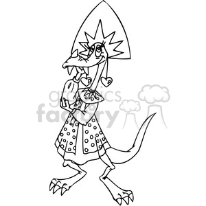 funny cartoon dragons 026 clipart. Royalty-free image # 385993