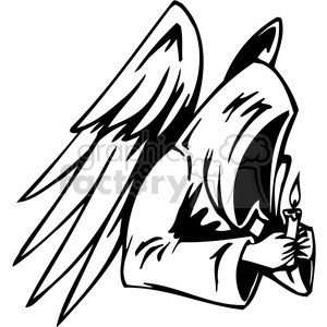 christian religion dark angel 040 clipart. Commercial use image # 386023