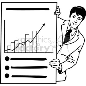 office business chart 039 clipart. Commercial use image # 386033