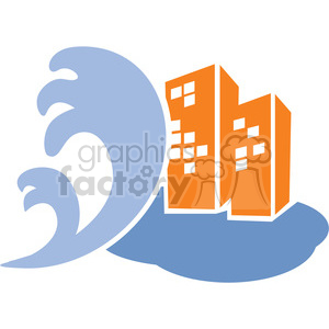 tidal wave clipart. Commercial use image # 386083