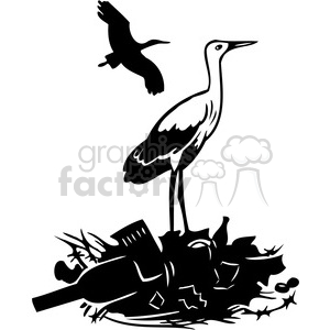 garbage is polluting the birds clipart. Royalty-free image # 386093