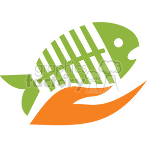 fish being held 029 clipart. Royalty-free image # 386103