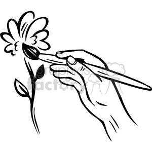 flower painting 090 clipart. Royalty-free image # 386153