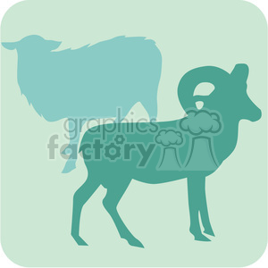 animal ram sheep 096 clipart. Royalty-free image # 386173