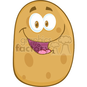 5175-Potato-Cartoon-Mascot-Character-Royalty-Free-RF-Clipart-Image clipart. Royalty-free image # 386272