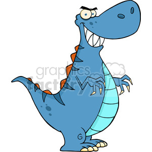 5114-Angry-Dinosaur-Cartoon-Character-Royalty-Free-RF-Clipart-Image clipart. Royalty-free image # 386302