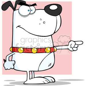 5214-Angry-White-Dog-Angry-Finger-Pointing-Royalty-Free-RF-Clipart-Image clipart. Royalty-free image # 386322