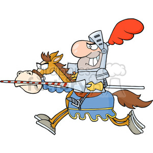 5136-Knight-Riding-Horse-Royalty-Free-RF-Clipart-Image clipart. Commercial use image # 386342