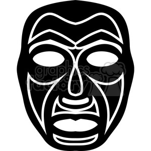 mask masks tribal black+white vector art faces vinyl+ready