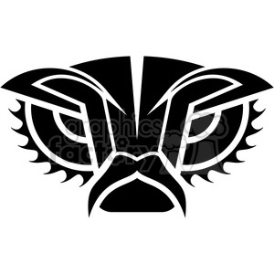 tribal masks vinyl ready art 022 clipart. Commercial use image # 386402