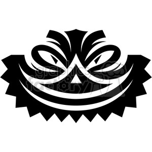 tribal masks vinyl ready art 018 clipart. Royalty-free image # 386412