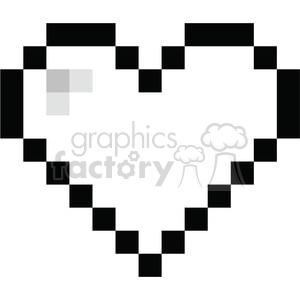 8-bit heart love black clipart. Royalty-free image # 386438