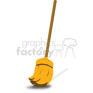 cleaning broom illustration 002 clipart. Royalty-free image # 386448