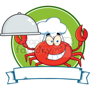 Crab-Chef-Cartoon-Mascot-Logo clipart. Commercial use image # 386508