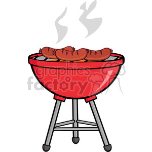 Grilled Sausages On Barbecue clipart. Commercial use image # 386548