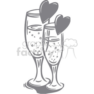 wine glasses of love clipart. Royalty-free image # 386627