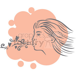 girl blowing kisses clipart. Royalty-free image # 386667