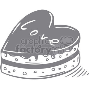 love cake faded clipart. Commercial use image # 386697
