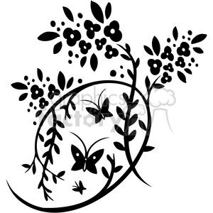Chinese swirl floral design 084 clipart. Commercial use image # 386725