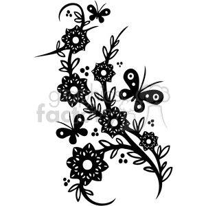 Chinese swirl floral design 062 clipart. Commercial use image # 386735