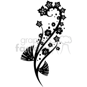 Chinese swirl floral design 045 clipart. Commercial use image # 386785