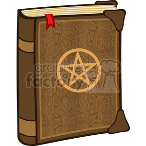 Clipart of Magic Book With Pentagram clipart. Royalty-free image # 386855