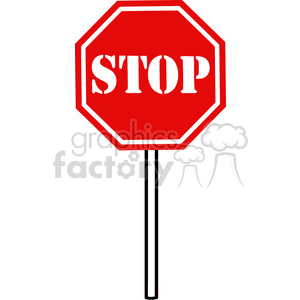 Clipart of Traffic Sign Stop clipart. Commercial use image # 386875