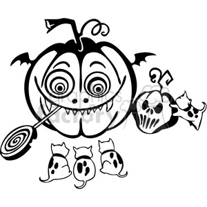 Halloween clipart illustrations 037 clipart. Royalty-free image # 387045