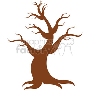 vector cartoon tree clipart. Royalty-free image # 387166