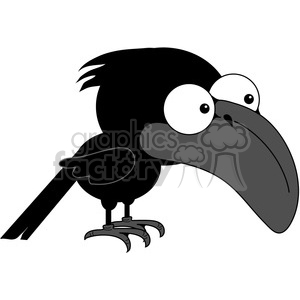 cartoon cute vector clipart clip+art crow bird