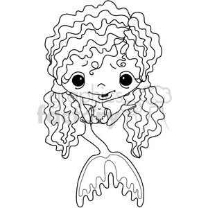 Girl 2 Doll Mermaid 4 clipart. Royalty-free image # 387216