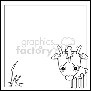 Deer Framed clipart. Commercial use image # 387236