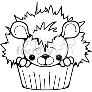 Cupcake Hedgehog clipart. Royalty-free image # 387246