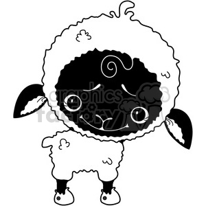 Sheep WhiteBlack Faced clipart. Royalty-free image # 387276
