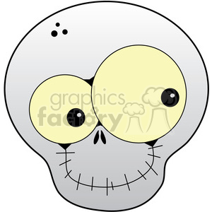 Skull Happy in color clipart. Commercial use image # 387296