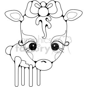 Deer Doe clipart. Royalty-free image # 387316