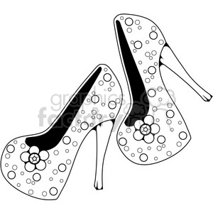 Heels 6 PearlsNFlowers clipart. Commercial use image # 387333