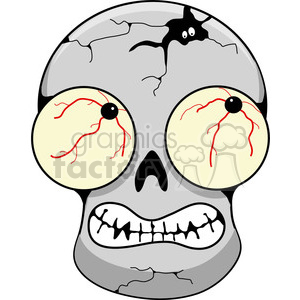 gray skull scary clipart. Royalty-free image # 387373