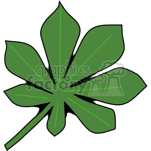 green Chestnut Leaf clipart. Royalty-free image # 387415