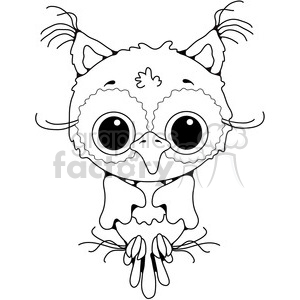 Owl Front View 2 clipart. Royalty-free image # 387421
