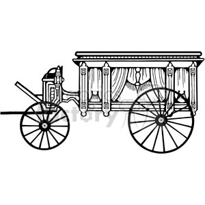 Antique Hearse 3 clipart. Royalty-free image # 387426