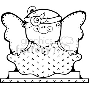SMORE Fairy BW clipart. Commercial use image # 387525