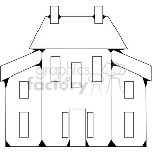 Salt Box House 01 clipart. Royalty-free image # 387535