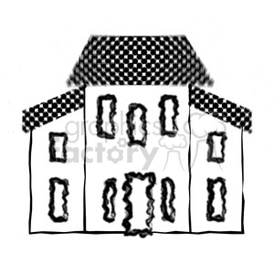 Salt Box House 02 clipart. Royalty-free image # 387565